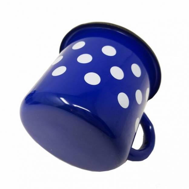 2 Metallic mugs - Ceramic-like - 400 ml - White