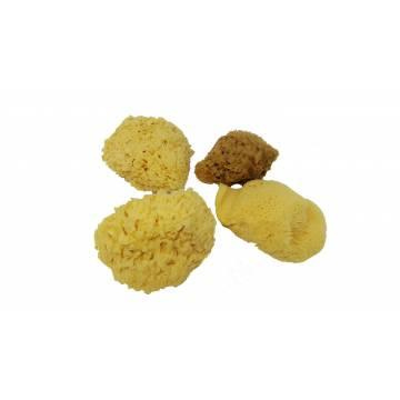 "Eponge Silk / Soie - Jaune - 4"" / 10 cm"