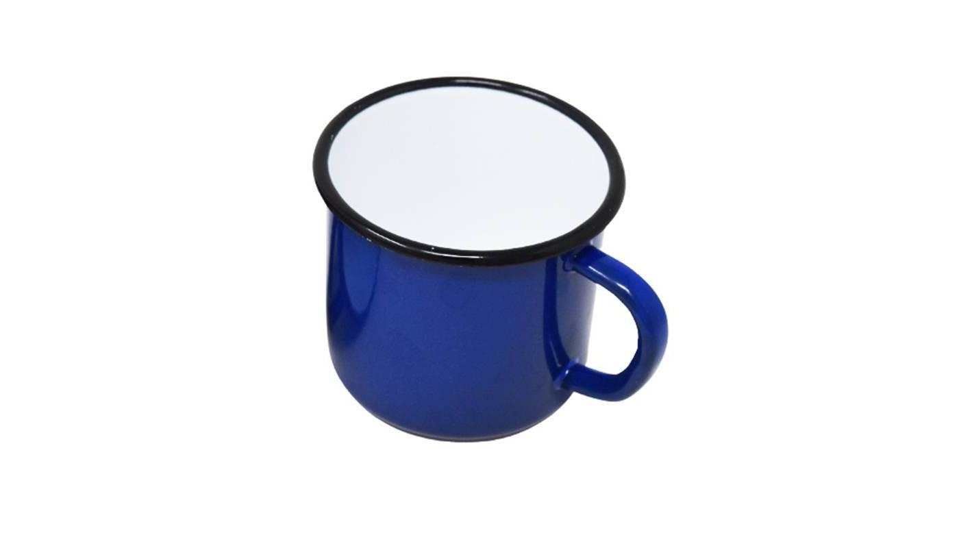 Enamelled metal mug - 250 ml - Blue