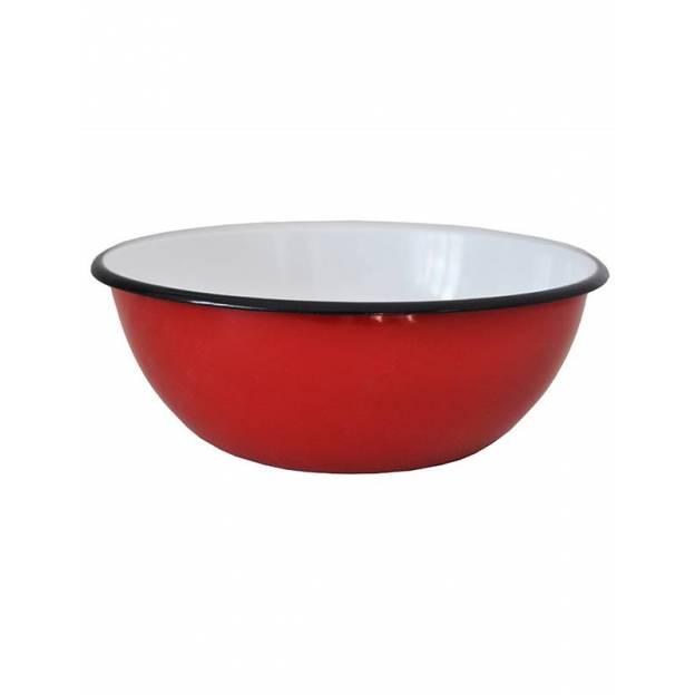 Plat en métal émaillé 1,5L - Rouge