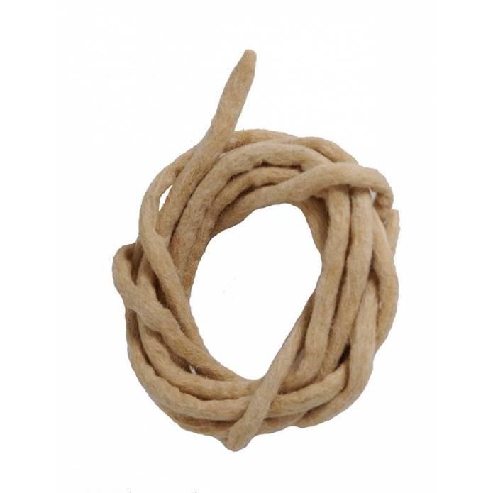 Cord in felt  - Beige