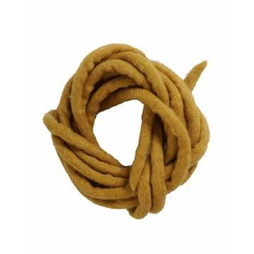 Cord in felt - Yellow